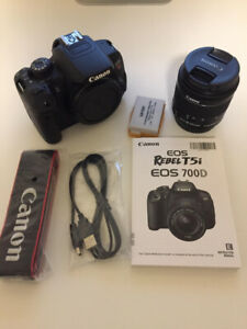 Canon T5i Body and 18-55 mm Lens