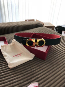Authentic Salvatore Ferragamo belt - red/black reversible -90 cm