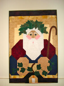 OLD SAINT NICK FRAMED QUILT London Ontario image 1