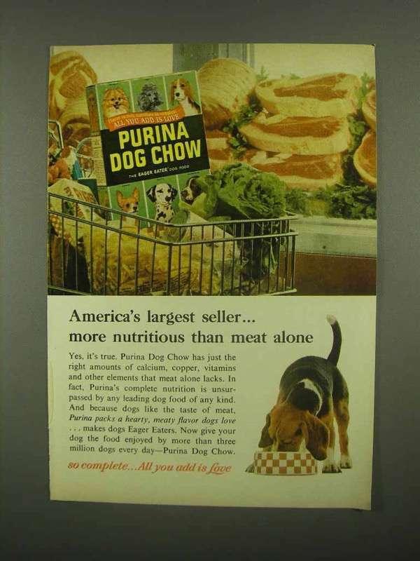 1965 Purina Dog Chow Ad - America
