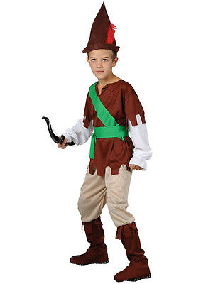 Boys Robin Hood Costume World Book Day Week Fancy Dress Medieval (World Book Week Kostüm)
