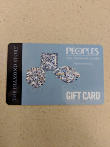People's gift card worth $535