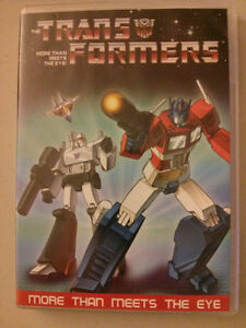 Transformers DVD More Than Meets the Eye three-part saga Also in