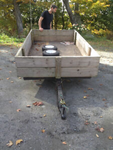 wood utility trailer easy to handle