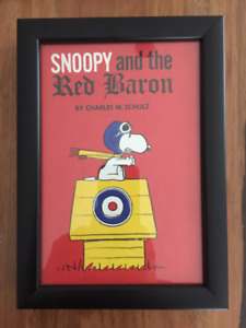 Cadre Livre Snoopy and the Red Baron Charles Schultz framed 40$