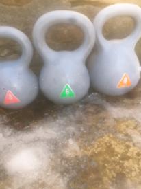 Kettle bells with dumbells