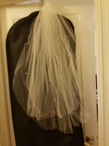 wedding veil with butterfly beading