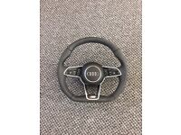 Audi flatbottom steering wheel latest one new shape 16++