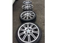 """BMW M3 19"""" alloys with tyres"""