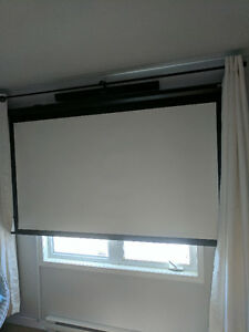 "Projector Kit! Epson 710HD + 84"" Electric Screen (Value = 1500$)"