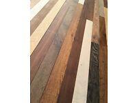 HARDWOOD FLOORING. Bespoke old school style 60x20mm engineered board. Multi coloured or light oak.