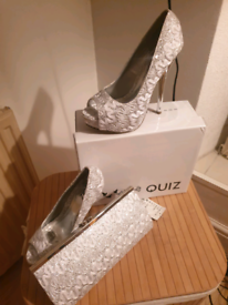 Shoes and clutch bag
