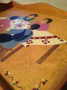 Mennonite Painted Wooden Tray from St. Jacobs Ontario Kitchener / Waterloo Kitchener Area image 5