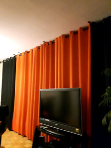 Living Room Long Curtains