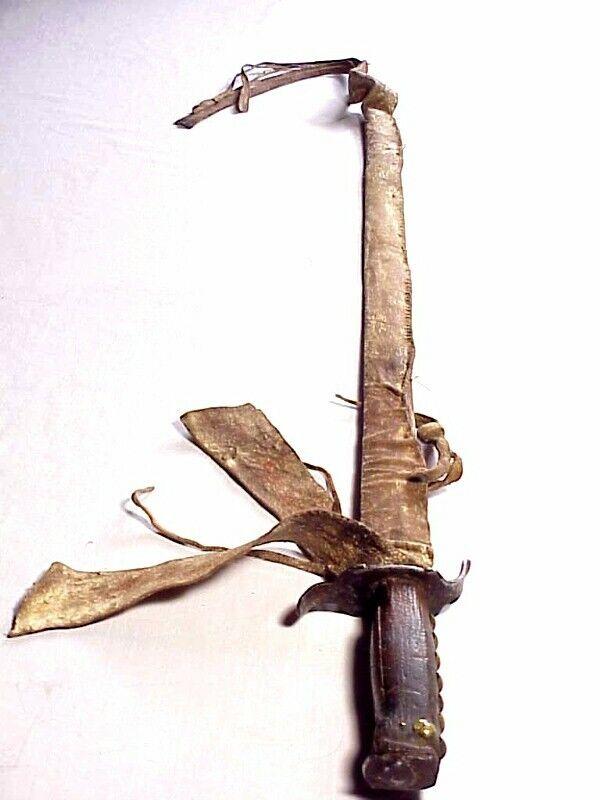 Original 18th Century NATIVE AMERICAN SWORD & SCABBARD