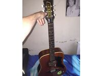 Vintage and rare 1960's EKO acoustic Guitar with pickup look@@!!