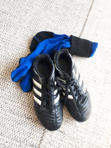 Adidas size 3 soccer cleats and socks