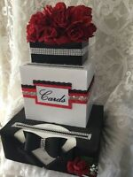 Boîte à carte de mariage avec tuxedo 40$