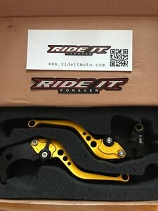 07 to 11 cbr 600 rr brake / clutch lever gold