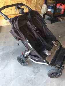 Mountain buggy double stroller, car seat and bassinet