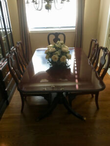 THOMASVILLE CHERRY-WOOD DINING ROOM SET