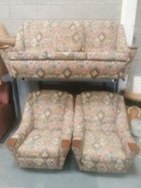 Midcentury modern antique designer style 3 Peice suite