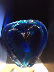 Cendrier ashtray vase verre glass style murano chalet
