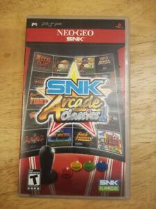 PSP Game, SNK Acrcade Classics. Complete.