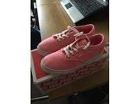 Girls size 1 vans trainers