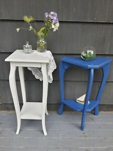 Small Nautical Blue Accent Table