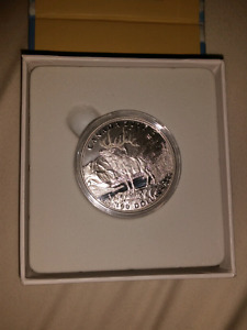 2016 $100 fine silver coin The Noble Elk