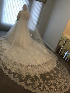 Selling my wedding dress!!! Wedding dress with sleeves