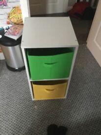 White Argos box unit
