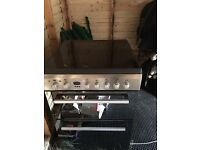 Indesit mirrored electric cooker/hob/grill