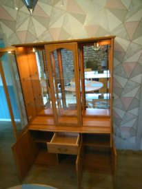 Reduced dinning room cabinet with storage and lighting