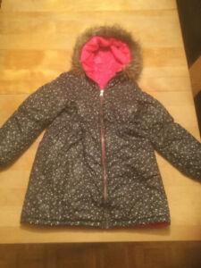 Souris Mini, manteau long d'hiver, fille 7-8 ans