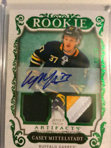 Casey Middlestadt Artifacts Dual Jersey patch Auto 1/35