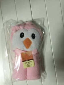 Bird hooded towel for kids with free 4pcs. table corner guards