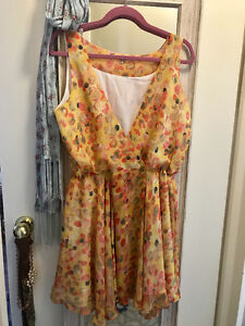 Yellow Summer Wrap Dress