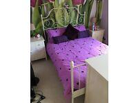 IKEA Leirvik double bed and silent night mattress