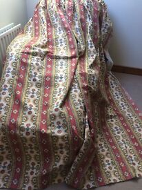 Beautiful Detailed Fully Lined Curtains 1 Set Of 2 Of 8 Ft 6 Wide X 7 Ft 2 Long