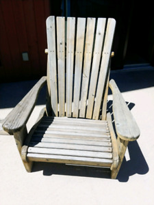 Solid wood deck chairs