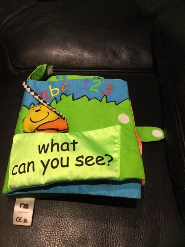 Mothercare Soft Book-What can you see? Age from Birth