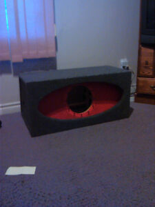 SUB BOX AND 300 WATT KENWOOD AMP