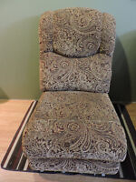 For sale: Sofa Chair with paisley design. Good Condition $65.00