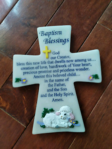Baptism Blessings Plaque