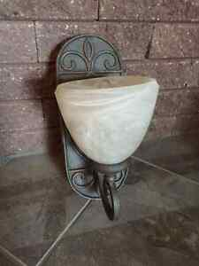 Iron & Frosted Glass Wall Lamp/ Wall Sconce