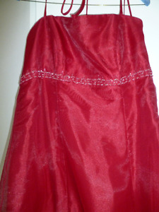 Beautiful Christmas Red Organza material dress