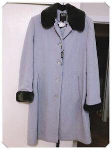 Brand New never worn Hilary Radley Coat Size 12 in Grey & Black.