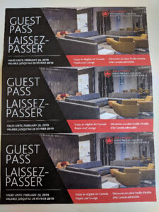 Air Canada Maple Leaf Lounge - 3 Guest Passes